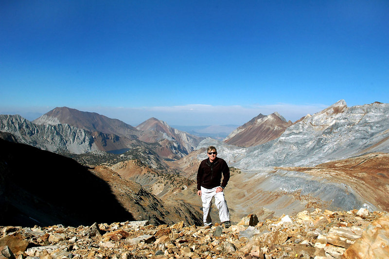 Me on the saddle at 12,200 feet with a view to the northwest. The view from here was awesome, glad that I hiked out to the saddle.
