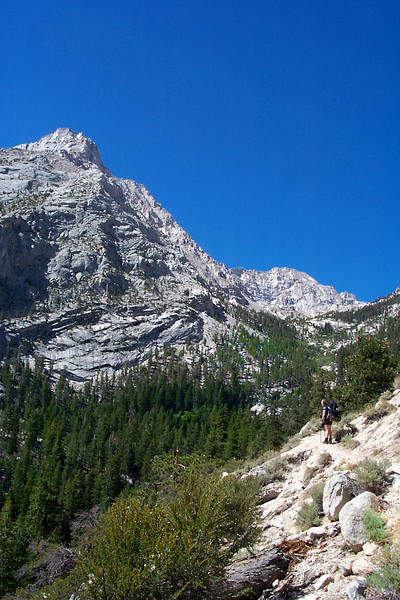 This hike had great views of Lone Pine Peak at 12,944 feet.