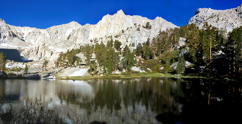 Grass Lake at 10,840 feet. We camped in this area.