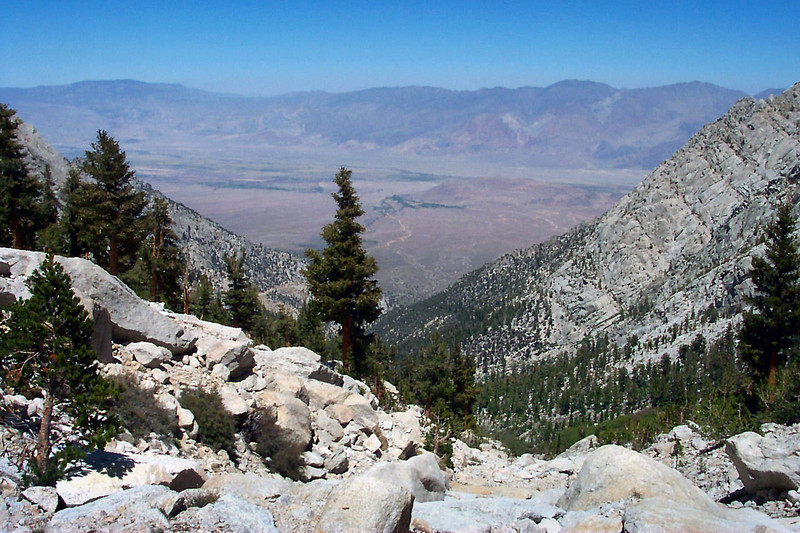 Looking back at the Owens Valley.