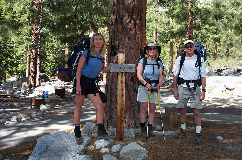 Sooz, Kathy and me in the campground at about 8,000 feet.