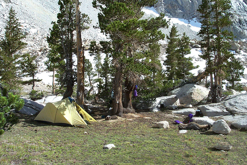 We found a great campsite between Grass and Peanut Lakes.