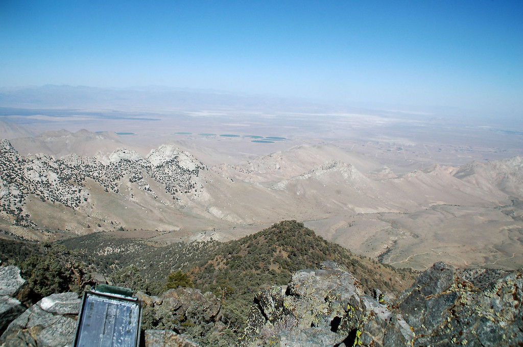 Looking to the northwest out towards China Lake Naval Weapons Center.