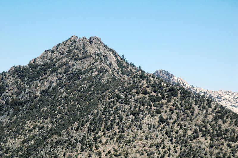 Zoomed in on Mount Jenkins with Owens Peak just showing behind it.
