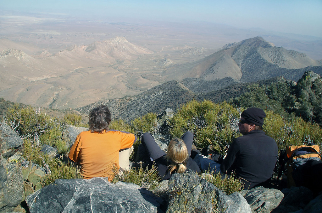 Relaxing on the summit.