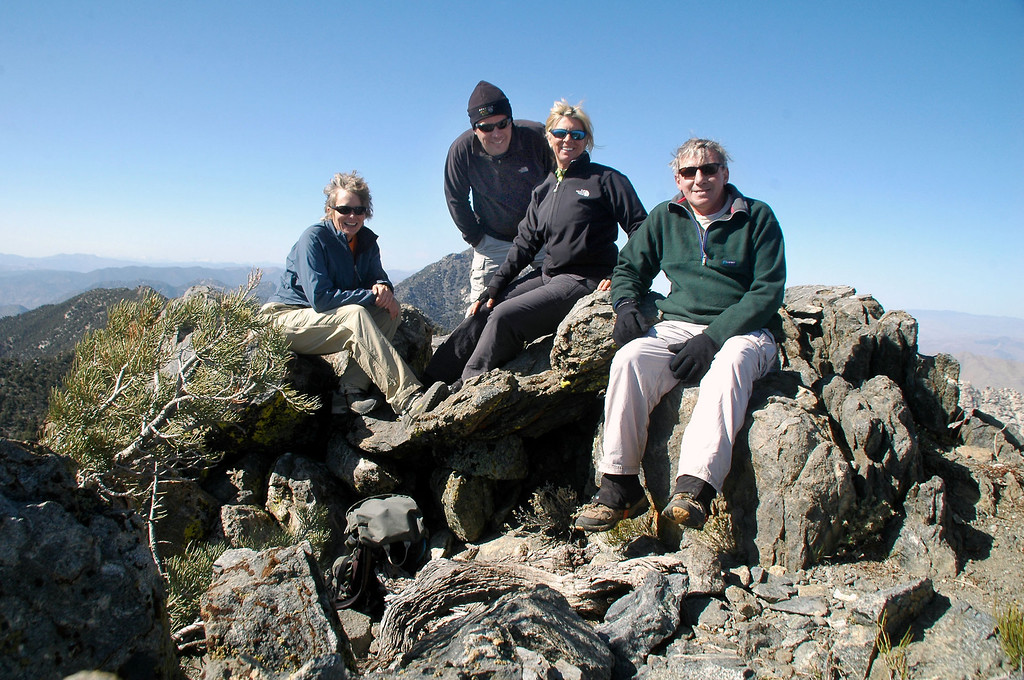 Group shot on Mount Jenkins (aka North Morris Peak) at 7,921 feet.