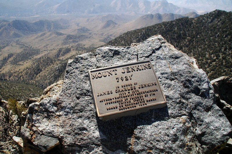 There was another plaque on top, same as the one on the trail.