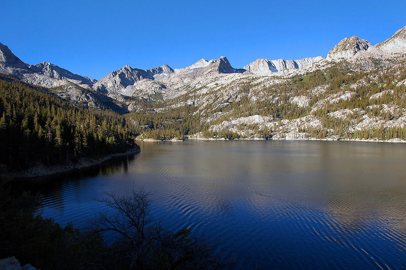 This is at South Lake 9,850'. My day hike to Mt Agassiz starts here.