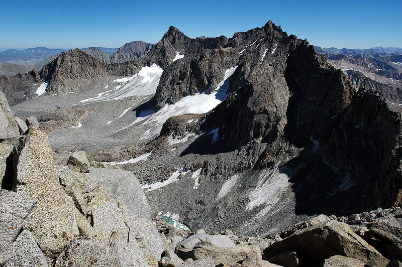 A view to the east from the saddle below the summit, almost there.