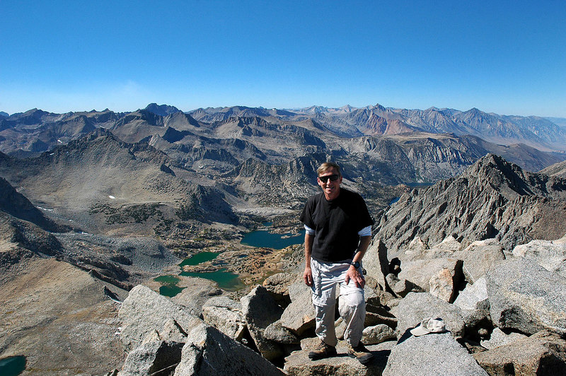 Me (Joe) on the summit with a view to the northwest.