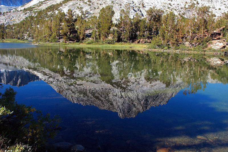 Hurd Peak's reflection in Long Lake.
