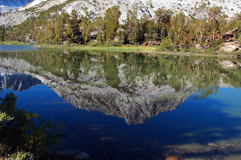 Hurd Peak's reflection in Long Lake.