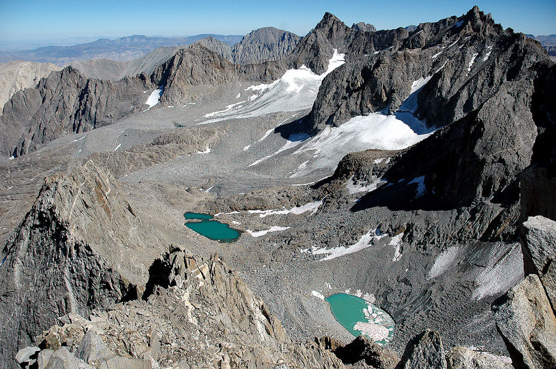 The Palisade Glacier with Mount Sill and Thunderbolt Peak.