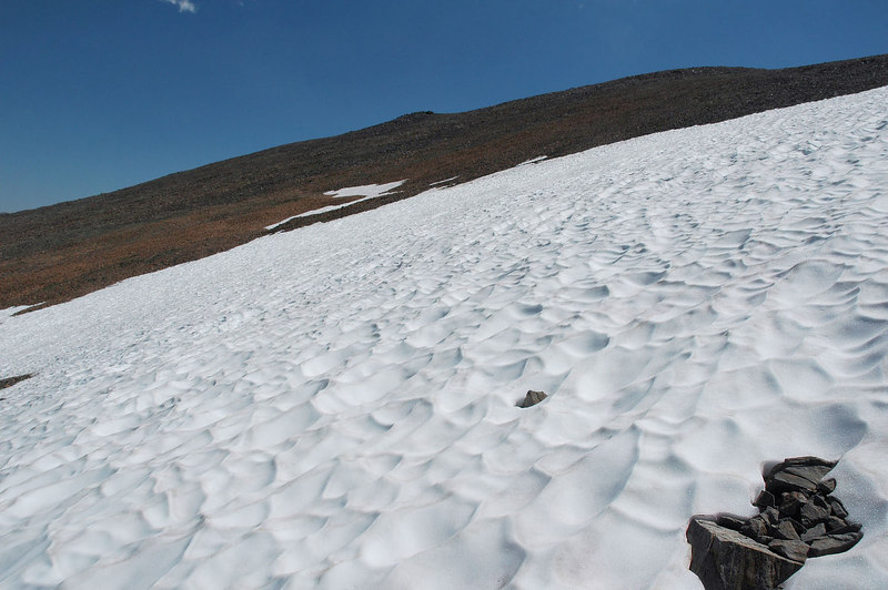 Reached the first patch of snow above 11,000'.
