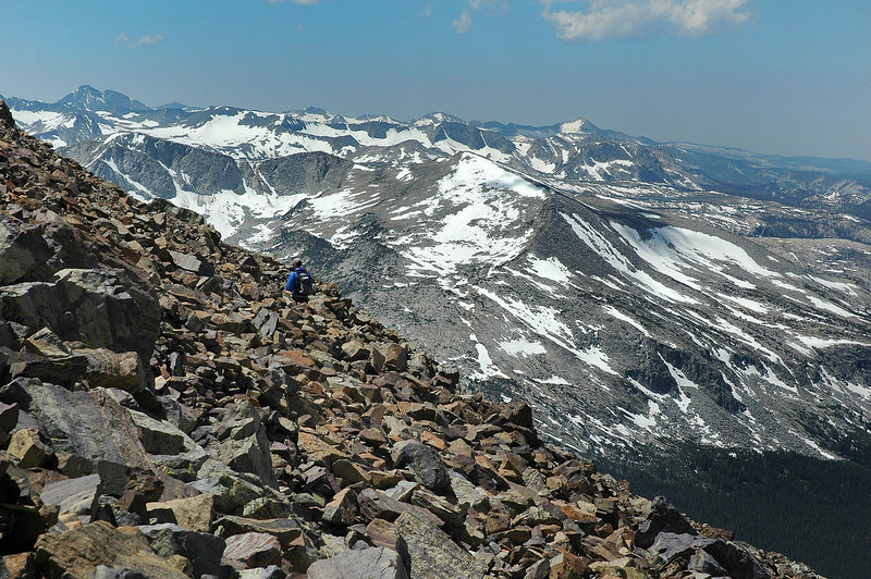 Another hiker making his way to the summit.