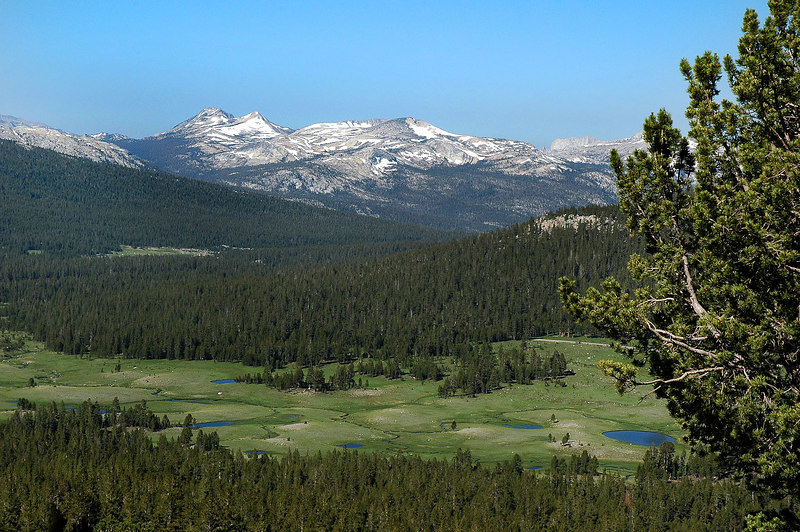 Starting to get a better view of Dana Meadows and some of it's ponds.