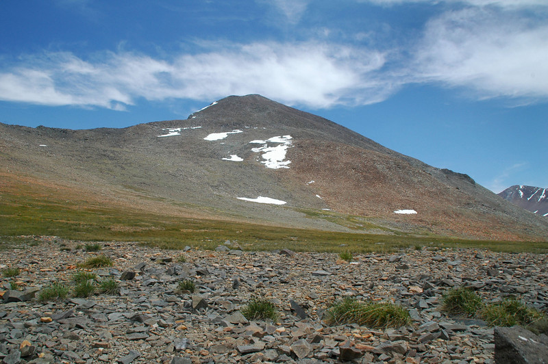 We took a short snack break here on the flat area at about 11,600 feet before heading up to the peak.