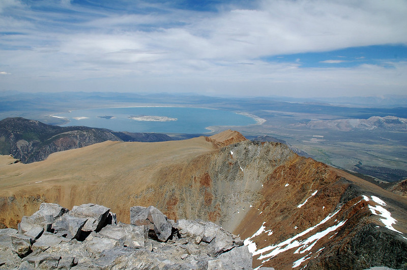 View of Mono Lake to the northeast 6,600 feet below.