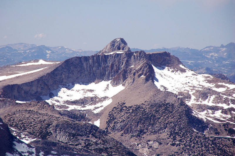 Zoomed in on Mount Conness at 12,590 feet.