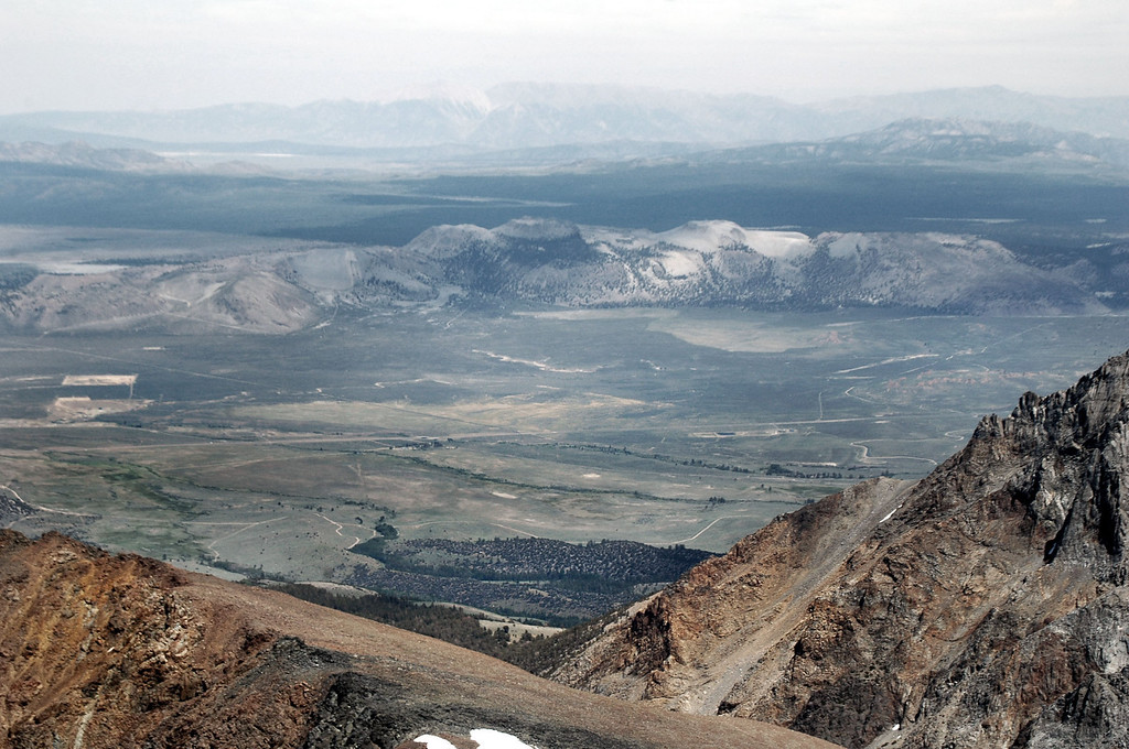 The Mono Craters to the east.