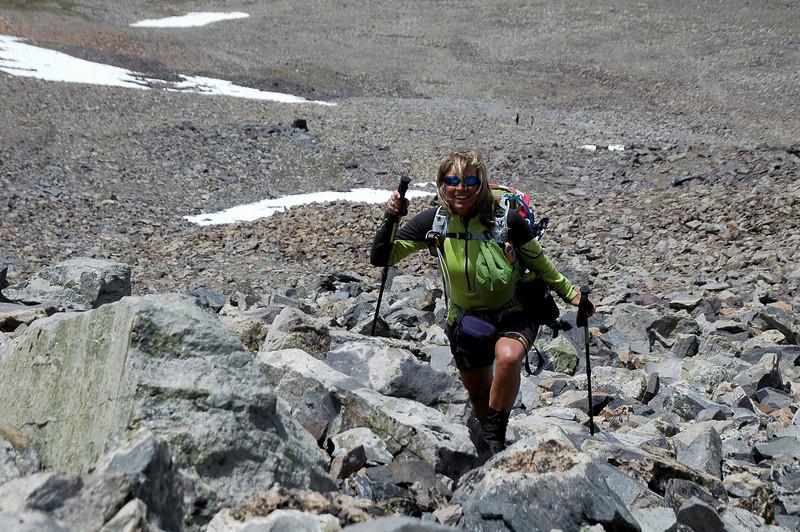 Sooz on the rocks.