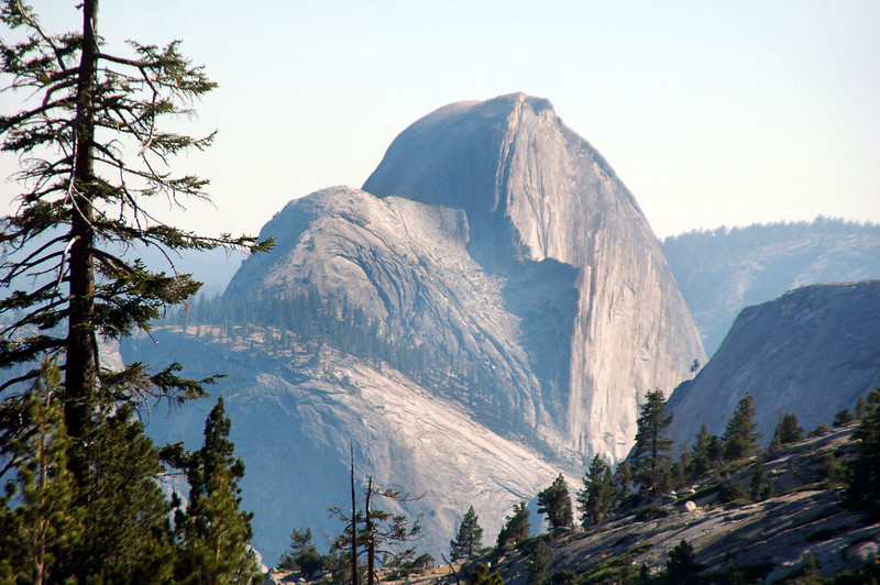 Zoomed in on Half Dome.
