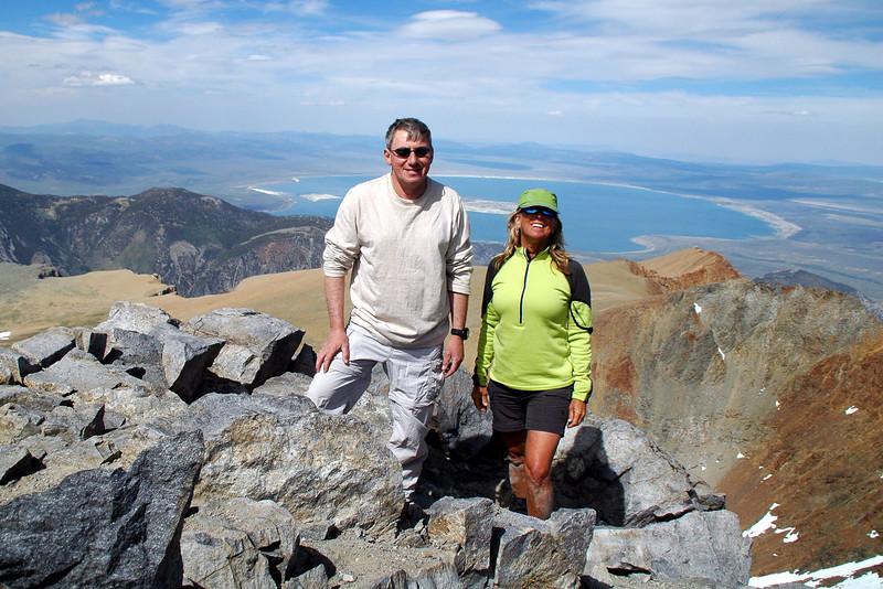 On the Dana's summit at 13,057 feet.
