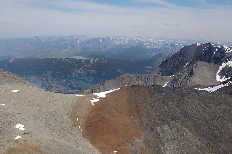 The June Lake ski area to the southeast.