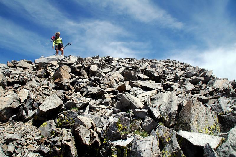 Sooz on the summit.