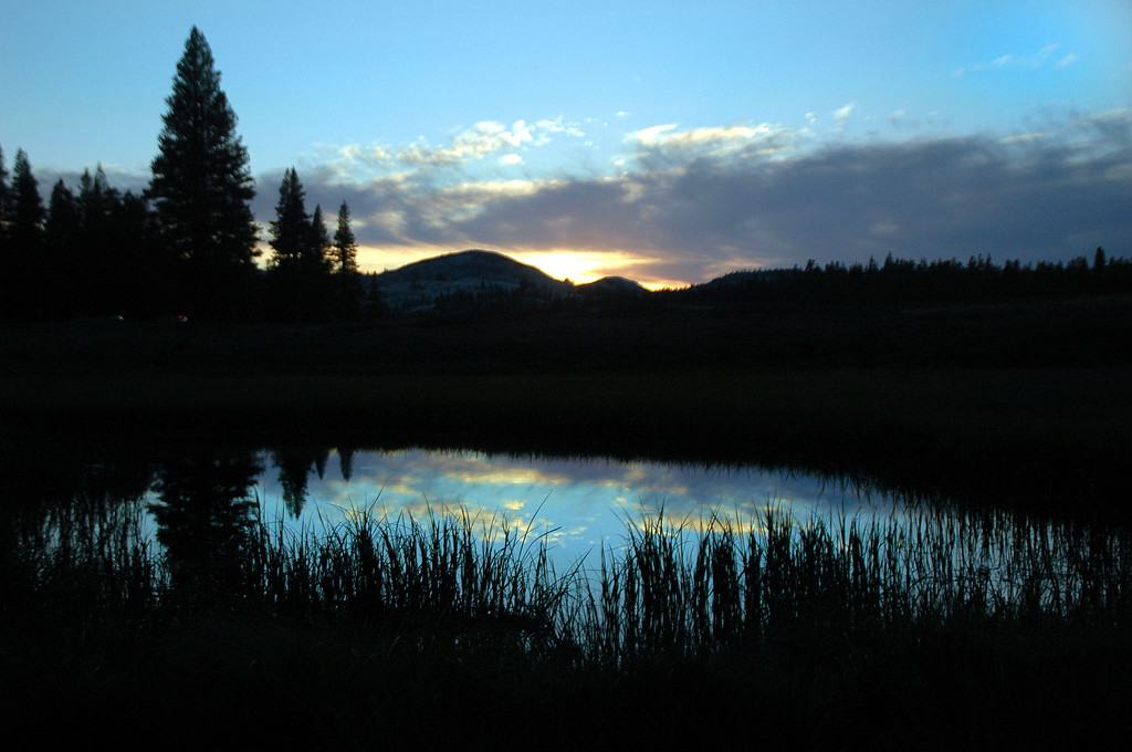 Sunset at Tuolumne Meadows. We headed down to the Whoa Nellie Deli for dinner before heading back to camp.<br /> <br /> THE END