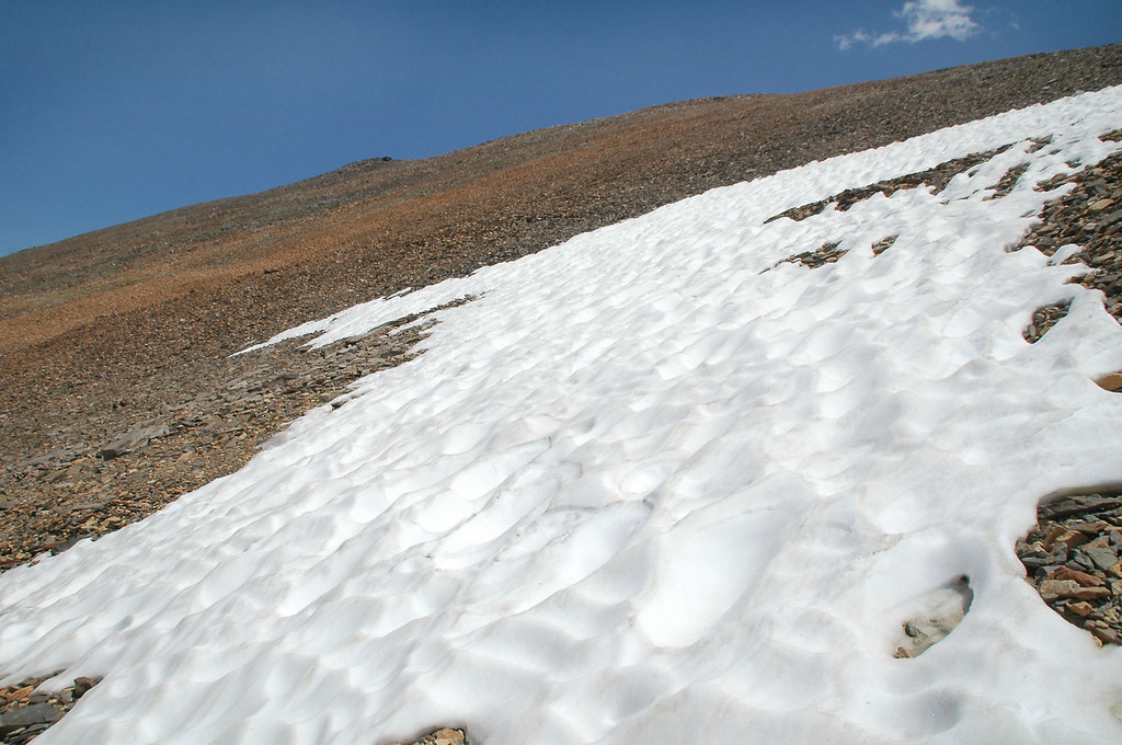 Patch of snow.