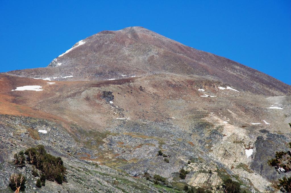 Zoomed in on Mount Dana.