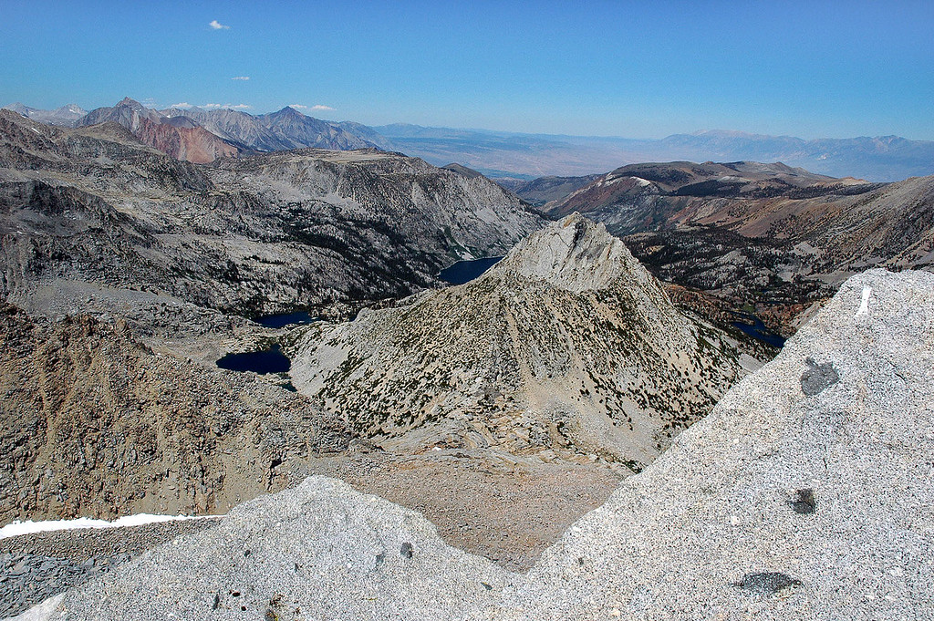 Hurd Peak in center, with Mt Humphreys and Mt Tom in the distance.