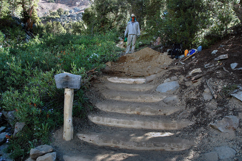 This is the trail to Ruwau Lake off the main trail. When I was here last week, you could hardly tell that there was a trail here. This guy (didn't get his name) put in these steps.