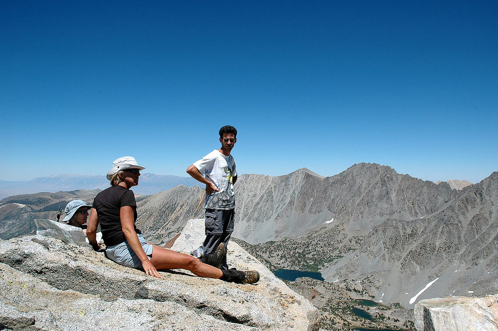 We hung out on the summit for a while, this peak has great views and we had a clear day.