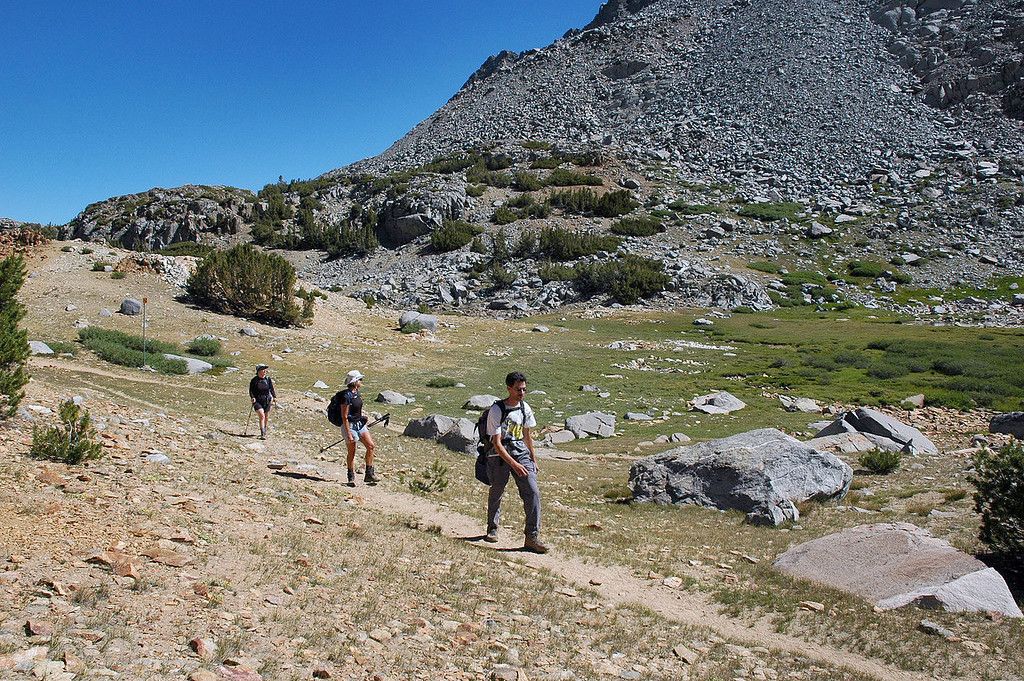 This is where we left the main trail and headed towards Bishop Lake.
