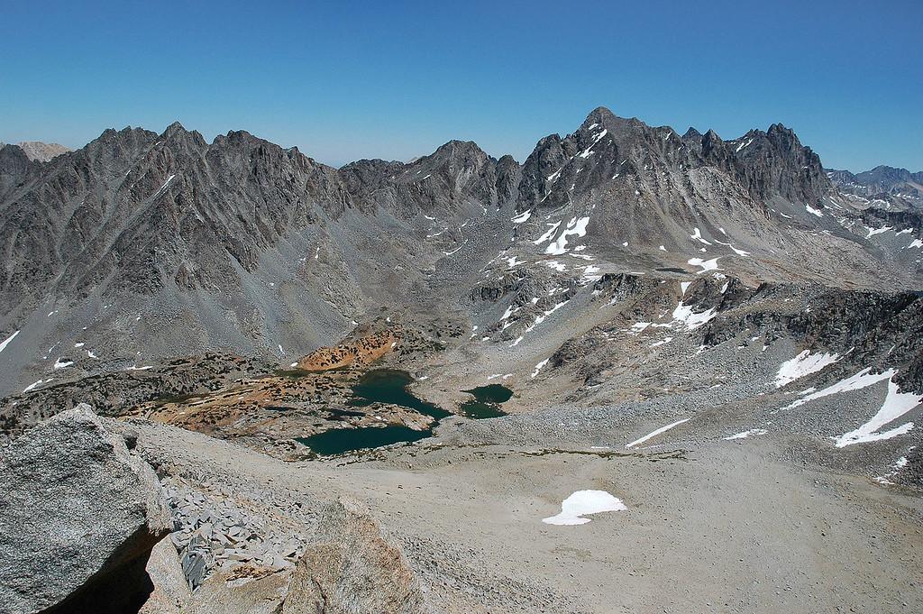 Bishop Lake 1,800' below.