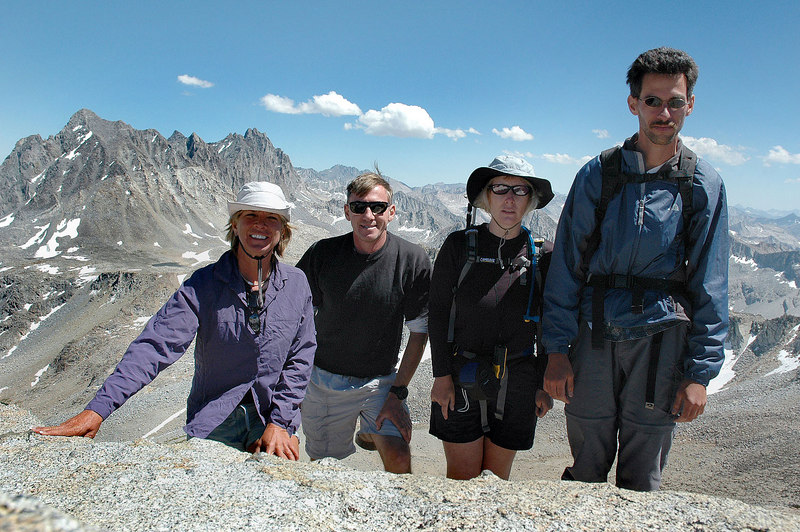 Sooz, me, Kathy, and Jay on the summit of Mt Goode 13,092'.