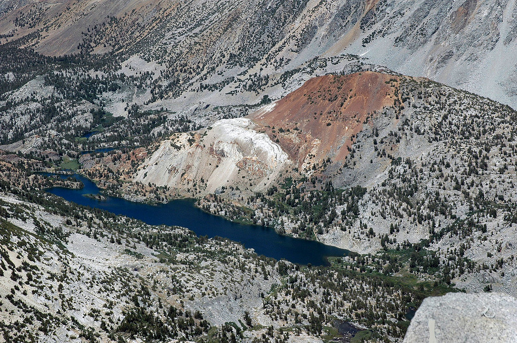 Zoomed in on Long Lake and Chocolate Peak.