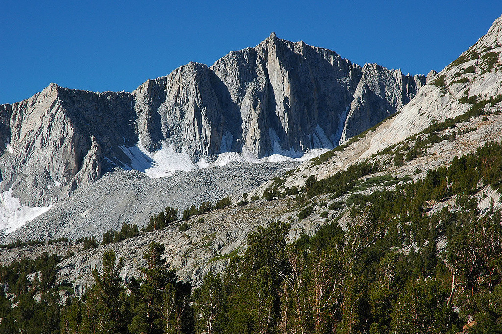 Zoomed in on Mount Goode. This is the north face, we will be climbing it's east slope.