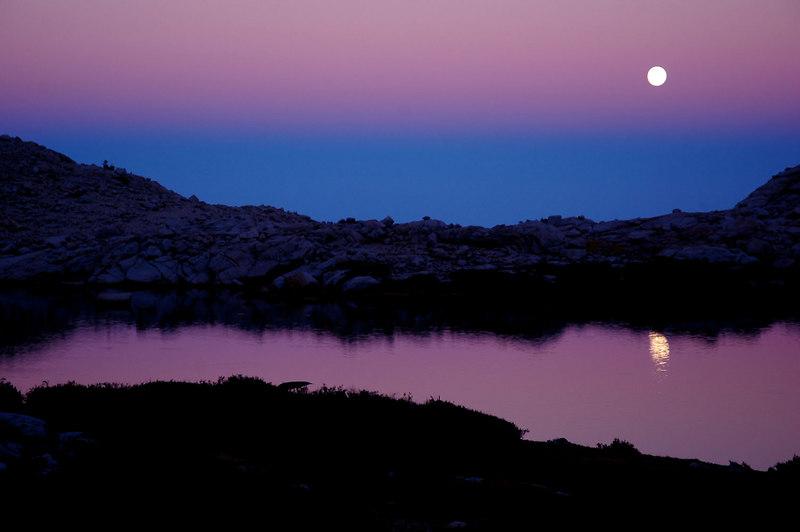 Another moon shot at the 4th Lake.