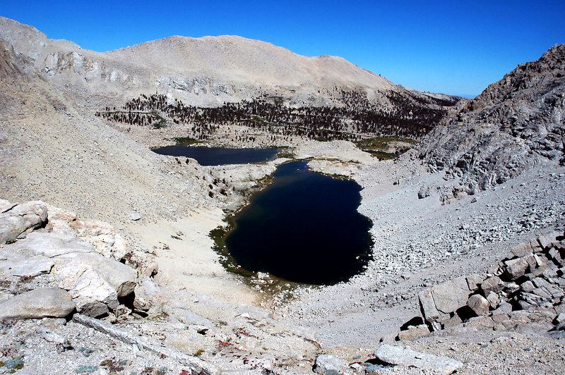 View of the 4th and 5th Lakes from the top of the pass.