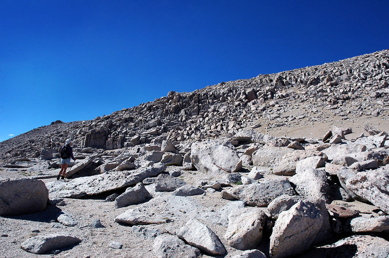 The hike to the summit was more scree than rocks.