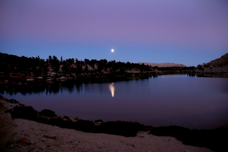 This moon shot at the 3rd Lake was taking from our campsite.