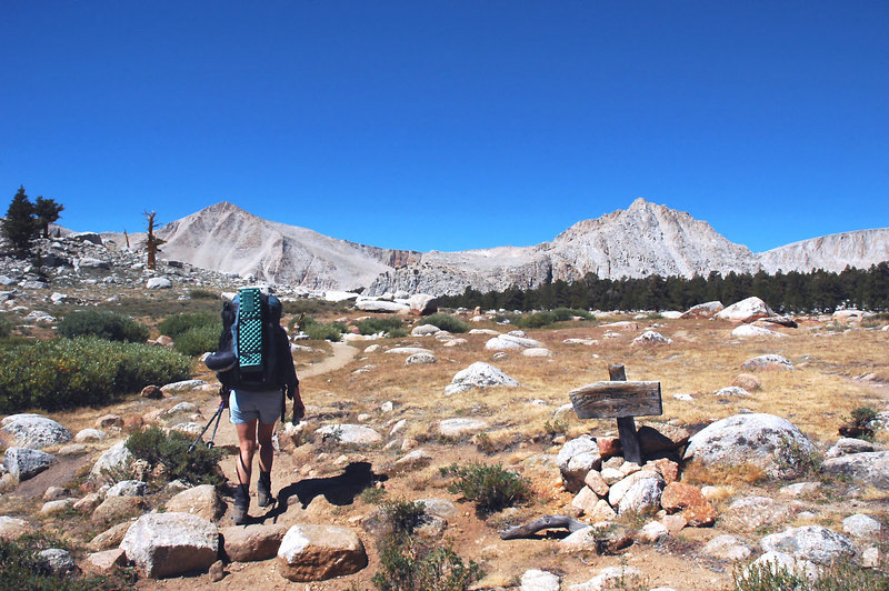 This is the start of the lake basin. Cirque Peak on the left.