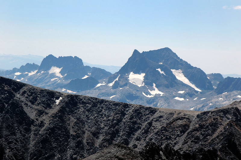 Zoomed in on Banner Peak and Mount Ritter.