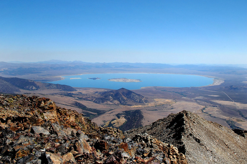 Great view of Mono Lake to the northeast.