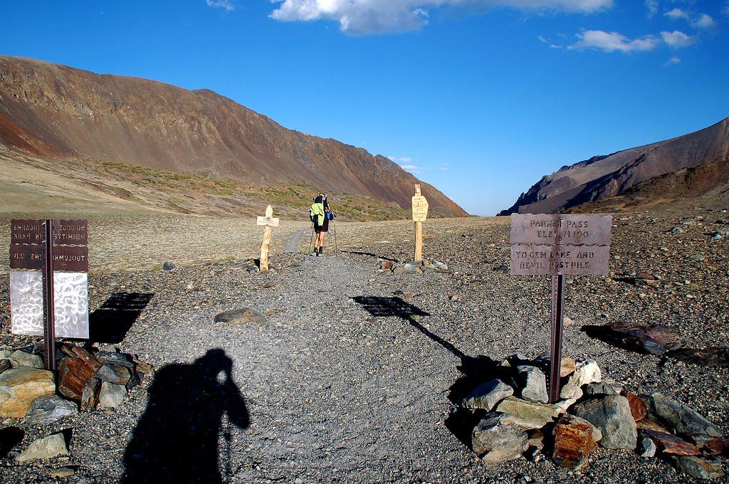 Parker Pass at 11,100 feet.
