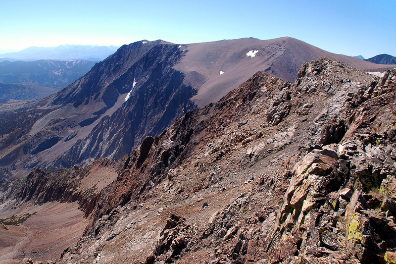 Looking to the south at Mount Parker with Mount Wood at the end of the ridge.