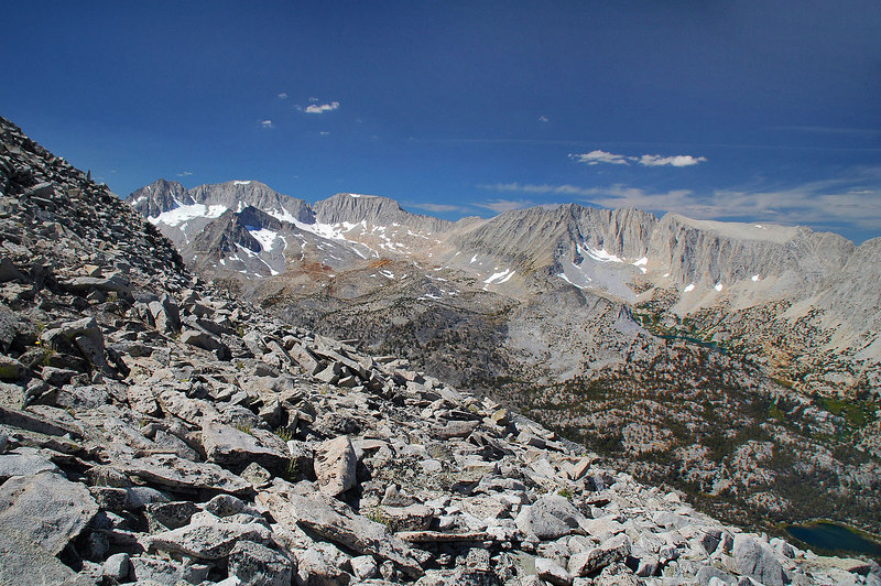 This is the first of a three shot view looking southwest to northwest from the saddle.